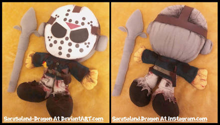 Commission: Small Jason Voorhees Plush Doll by Sarasaland-Dragon