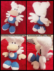 Commission: Magpie Plush Doll by Sarasaland-Dragon