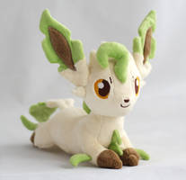 Leafeon plush by Draxorr