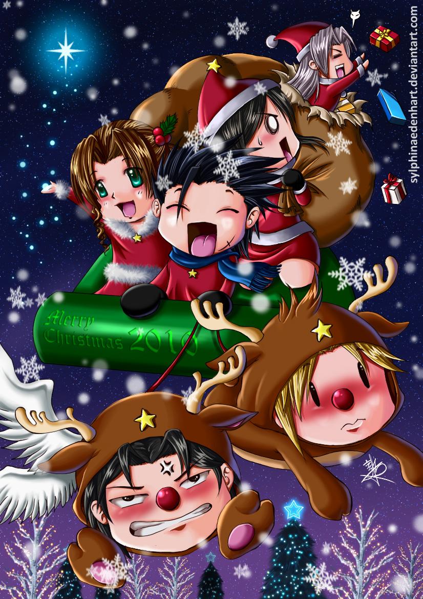 Anime Weihnachten Bilder.Final Fantasy Christmas 2010 By Sylphinaedenhart On Deviantart