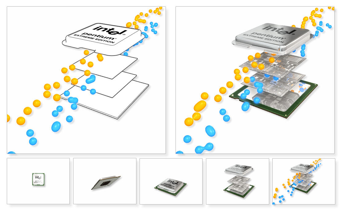 Intel Extreme Dual Core Blobs by 2createmedia