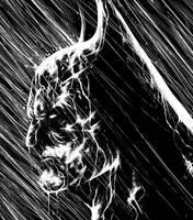 Batman Rain by suarezart