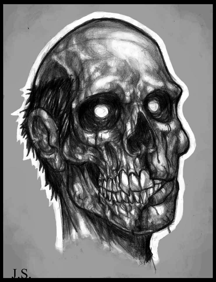 Zombie Face Line Drawing : Zombie face by suarezart on deviantart