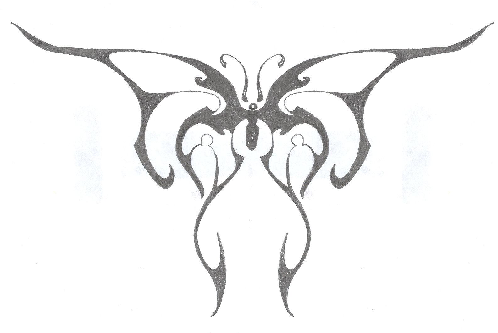 Tribal butterfly by brkensilenz on deviantart for Cool drawings of butterflies