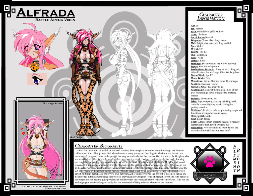 Alfreda Character Sheet 01 by Natheren