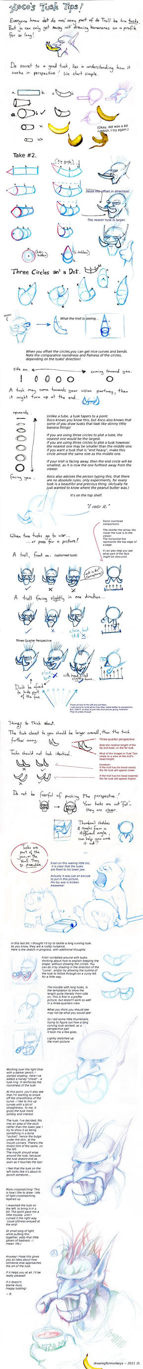 Tusk Tips by DrawingForMonkeys