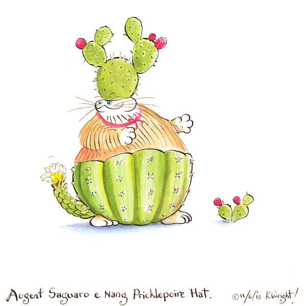 Augent Saguaro nang e Pricklepoire Hat by DrawingForMonkeys