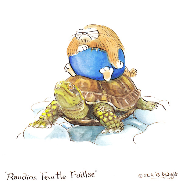 Riding the Turtle of Failure by DrawingForMonkeys