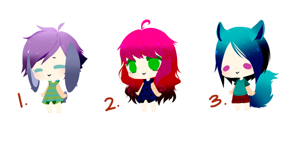 Chibi Adopt Batch #1 - CLOSED by Blithe-Adopts