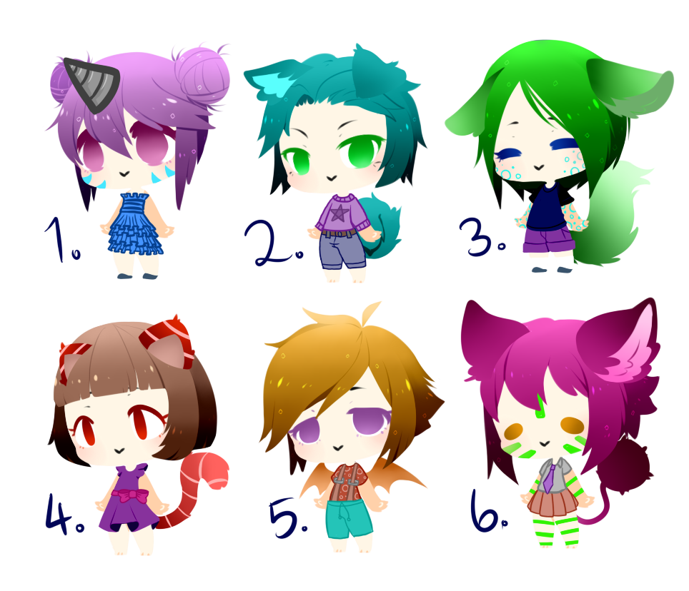 *PRICE REDUCED** Chibi Adopt Batch #3 - CLOSED by Blithe-Adopts