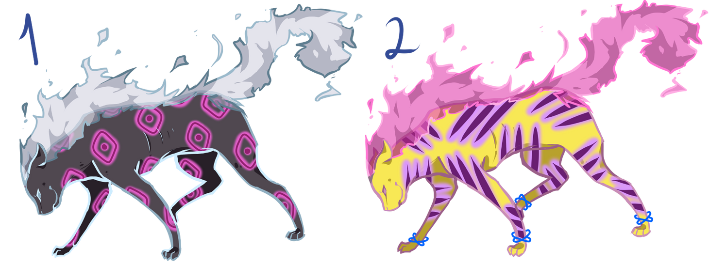 Flare Cat Adoptables SET PRICE [2/2] OPEN by Blithe-Adopts