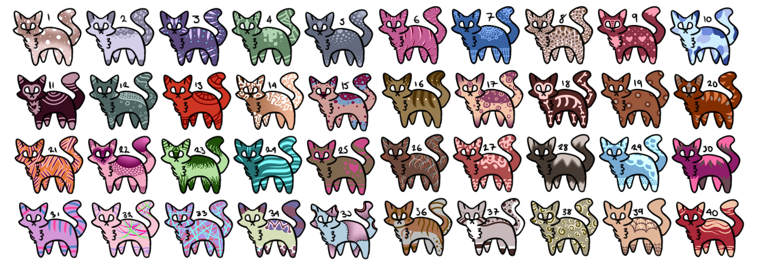 100 Feline Adoptables - OPEN by Blithe-Adopts