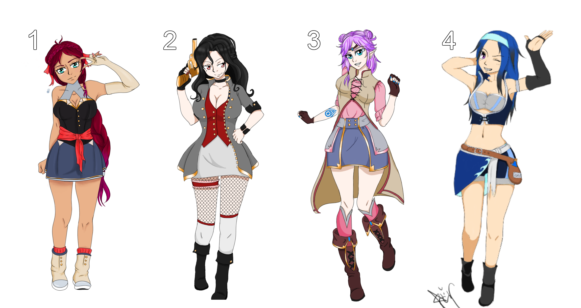 Fairy Tail Adoptables - CLOSED by Blithe-Adopts