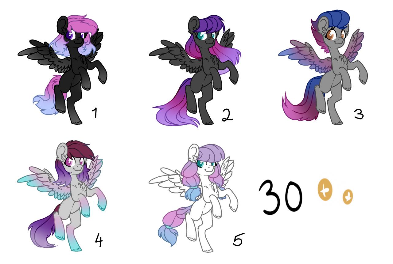 Pony Adopts [OPEN] by Blithe-Adopts