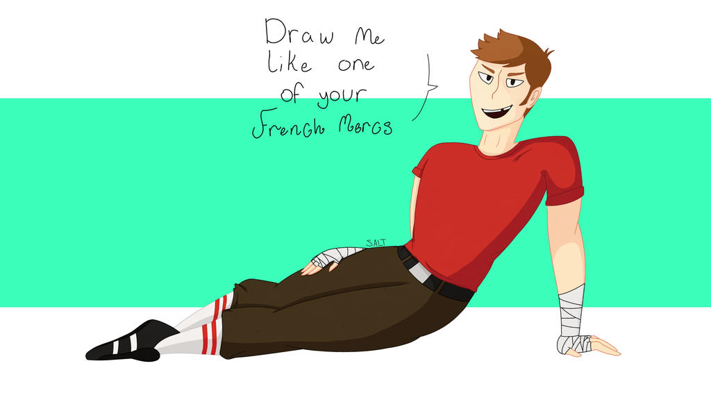 Draw Me Like On of Your French Mercs by Saltiest-Salt