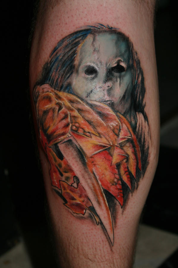 Michael myers by yeahgregtats on deviantart for Michael myers tattoo