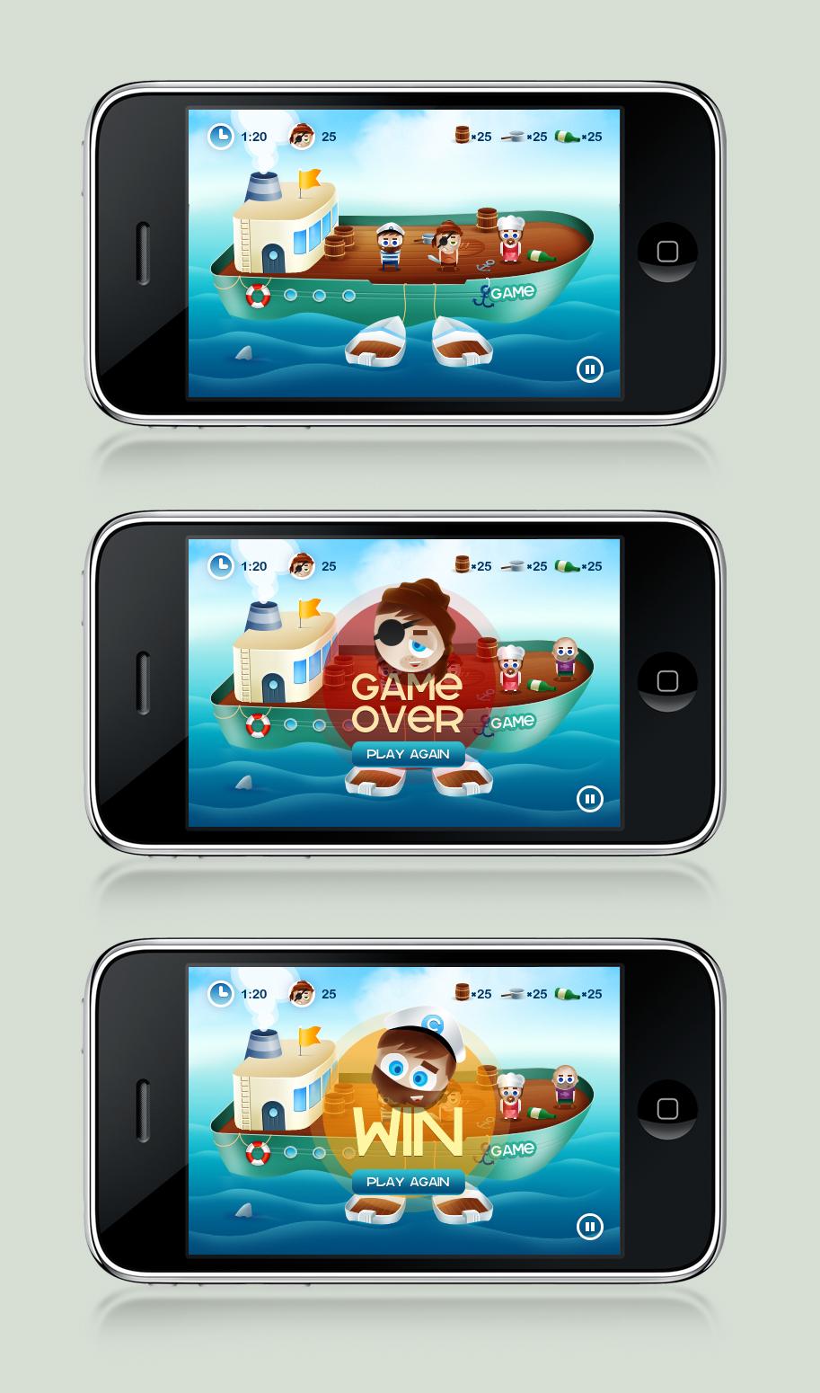 iPhone game design by gatisatmixlv