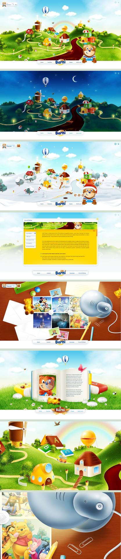 BARNI world - flash web design by gatisatmixlv