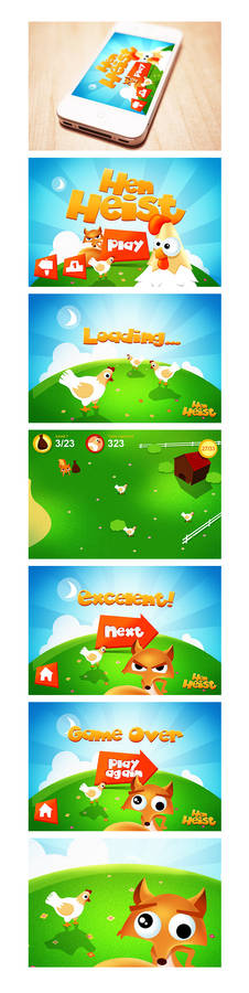 iPhone game design Hen Heist