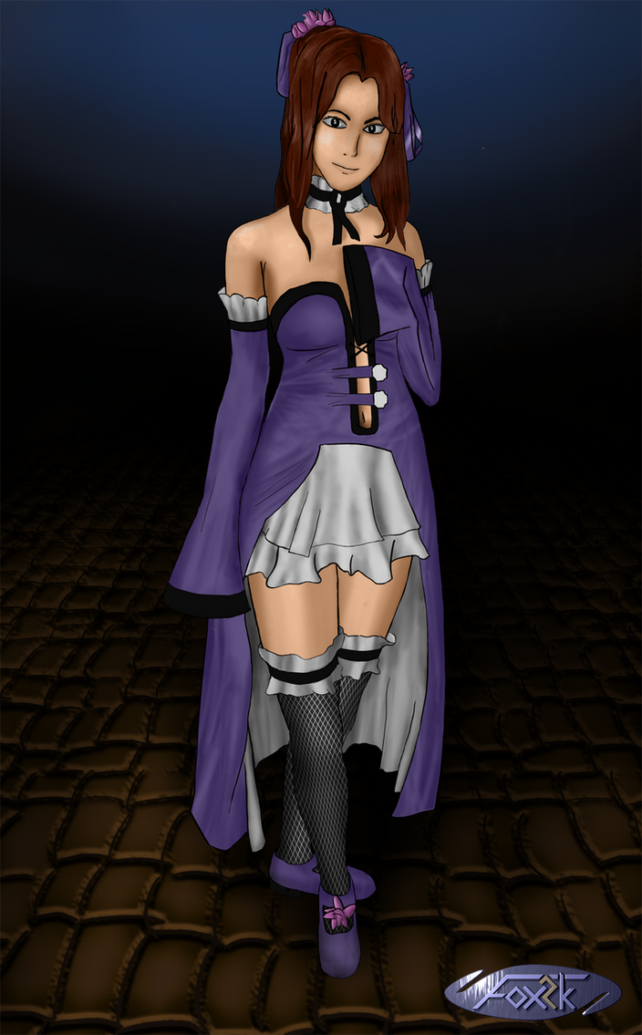 Purple girl by Fox-2k
