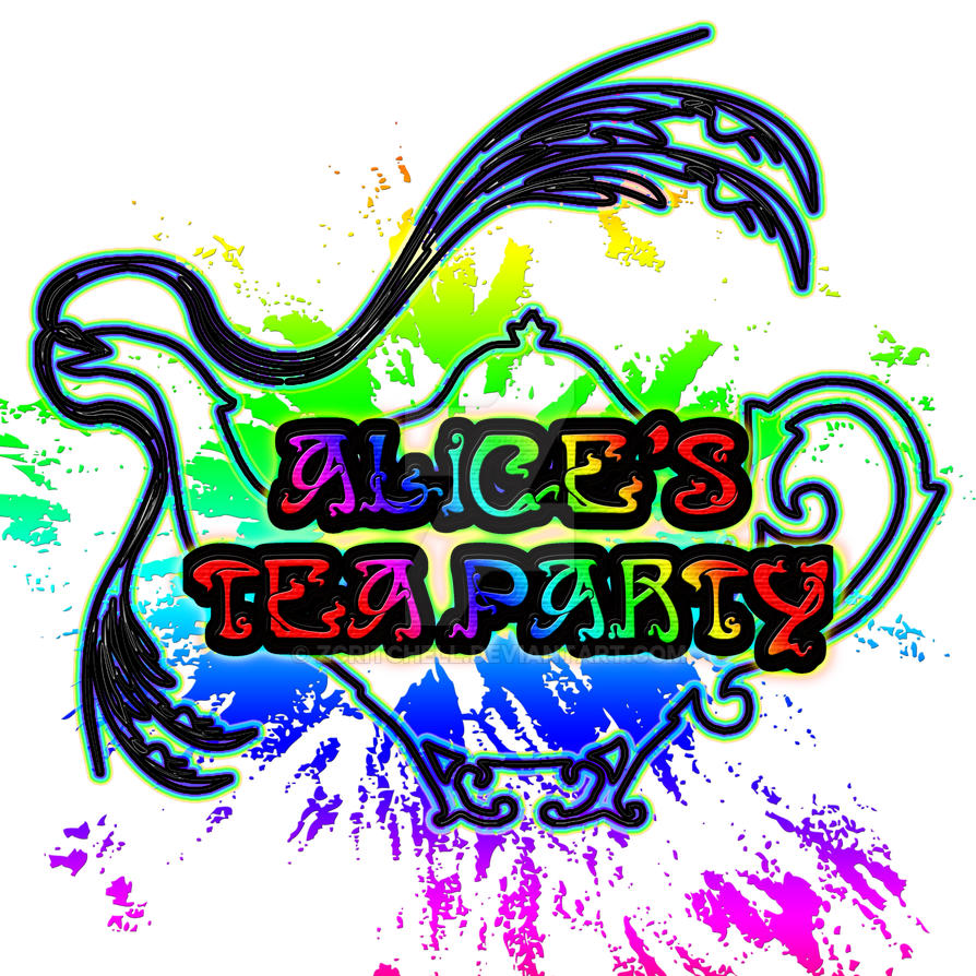 Alice's Tea Party logo by zcritchell