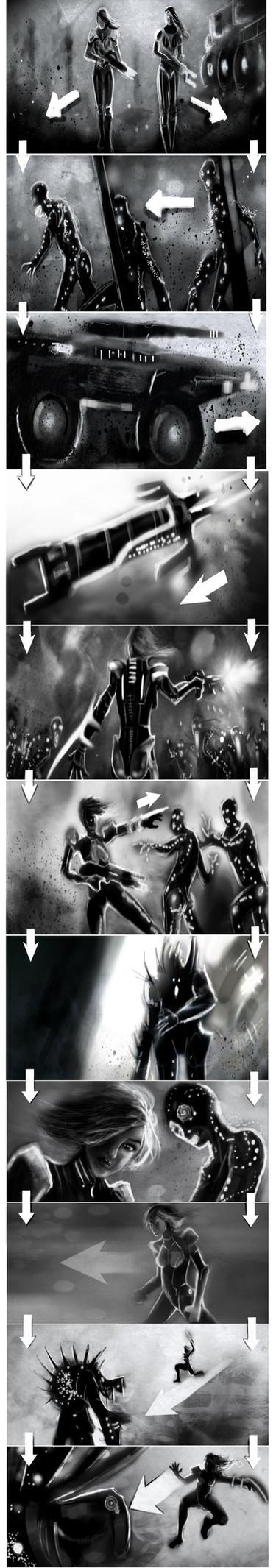 Mass Effect  Storyboard by SeanNash