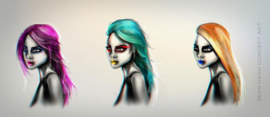 Character Hair color ideas by SeanNash