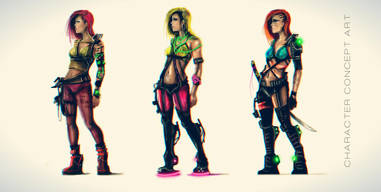 H0P3 : Character Concept Art by SeanNash