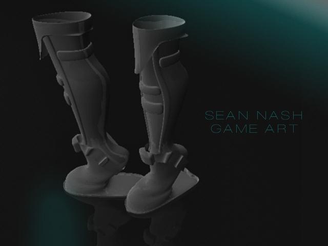 3D SCI FI BOOTS by SeanNash