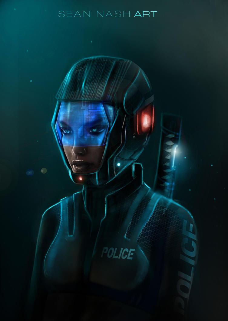 Police Helmet Concept by SeanNash