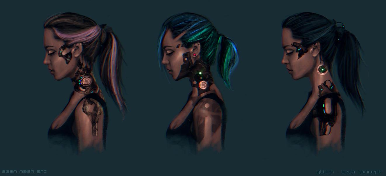Faye's Glitch Tech  Concept by SeanNash