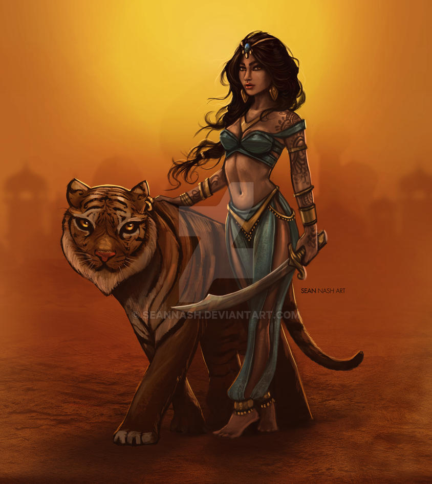 Jasmine and Rajah by SeanNash