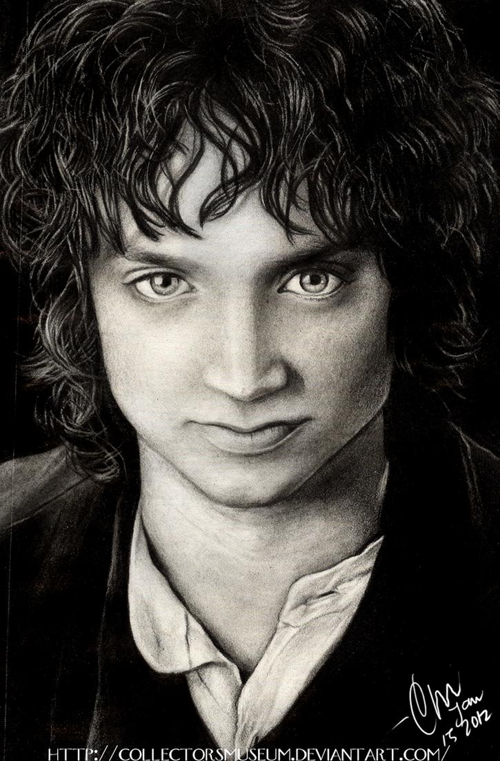 Frodo Baggins -Pencil Portrait by FuchsiaBud
