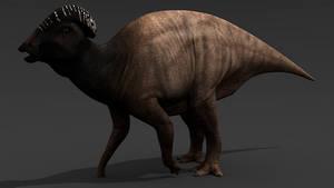 Parasaurolophus cyrtocristatus by MrSamosaurus