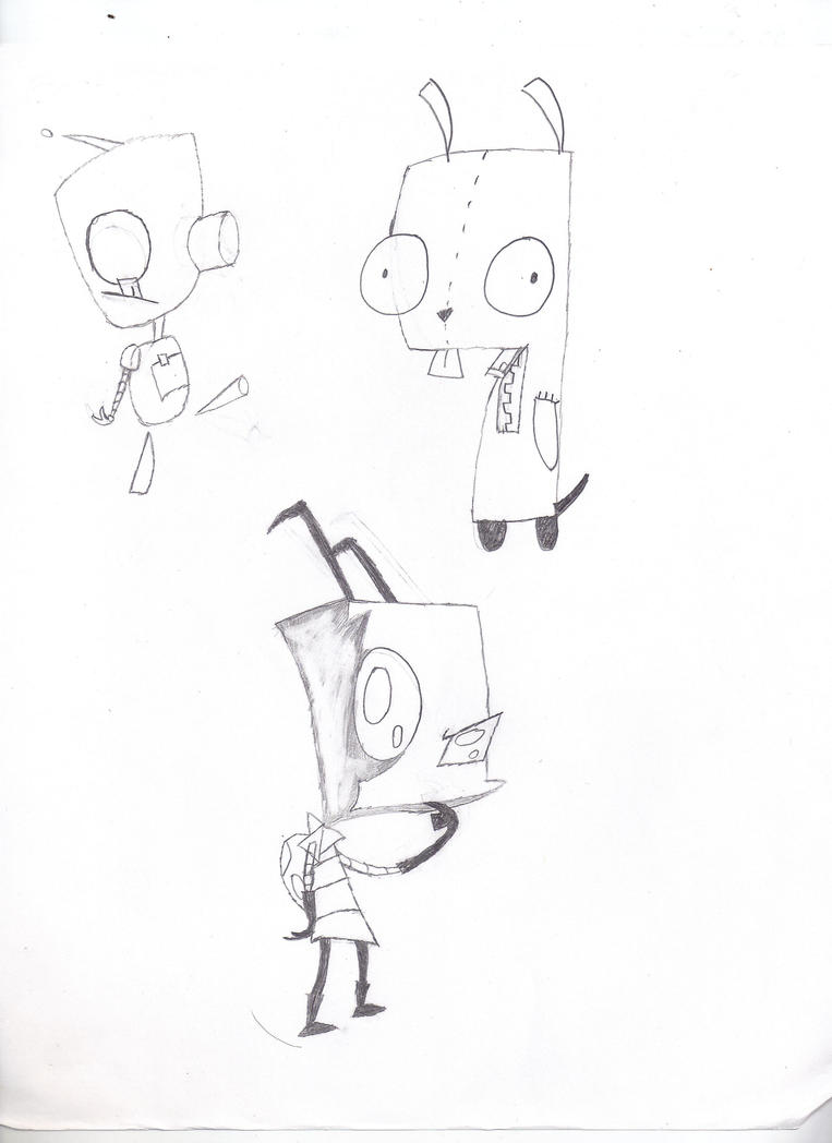 Random Invader Zim Sketches by ElkKiller