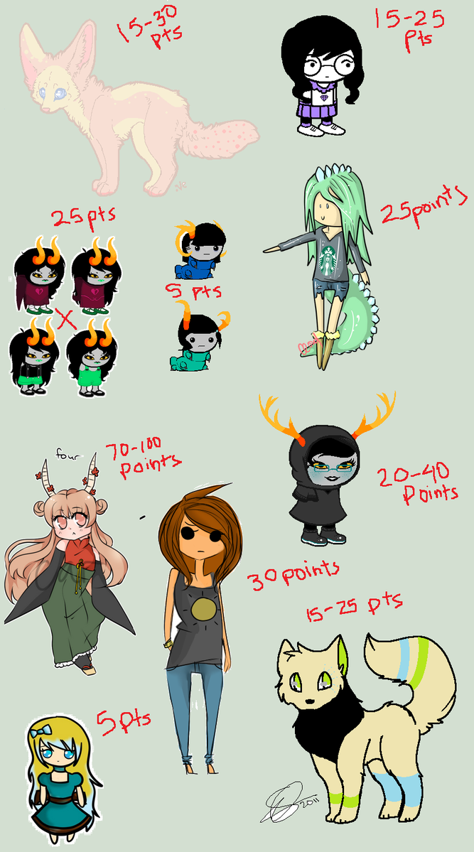 Massive Adopt Sheet!! 7/12 OPEN by ucccoffee