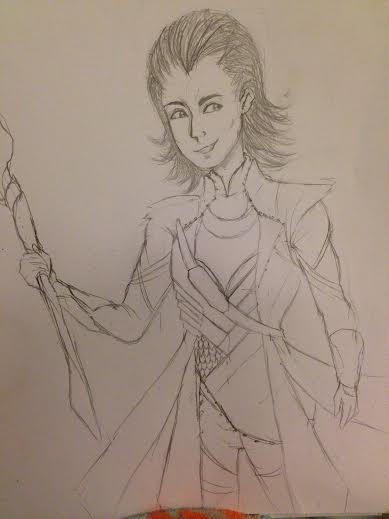 Loki of Asgard- SKETCH by ucccoffee