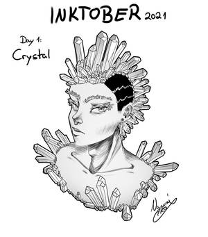 Inktober2021 Day 1: CRYSTAL