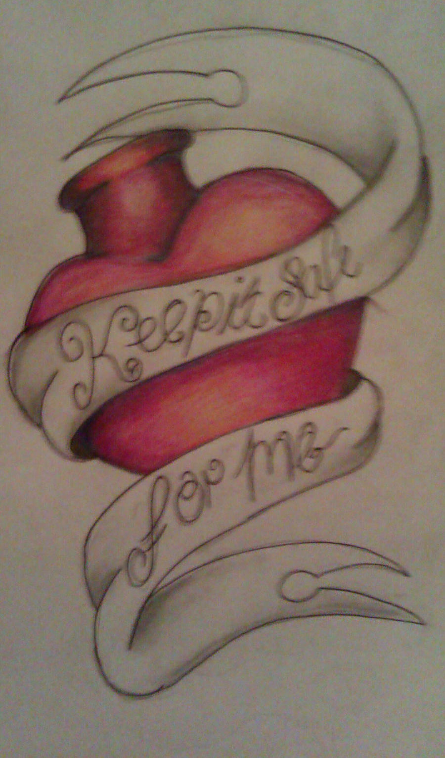 Keep it safe for me by MercyTattoos