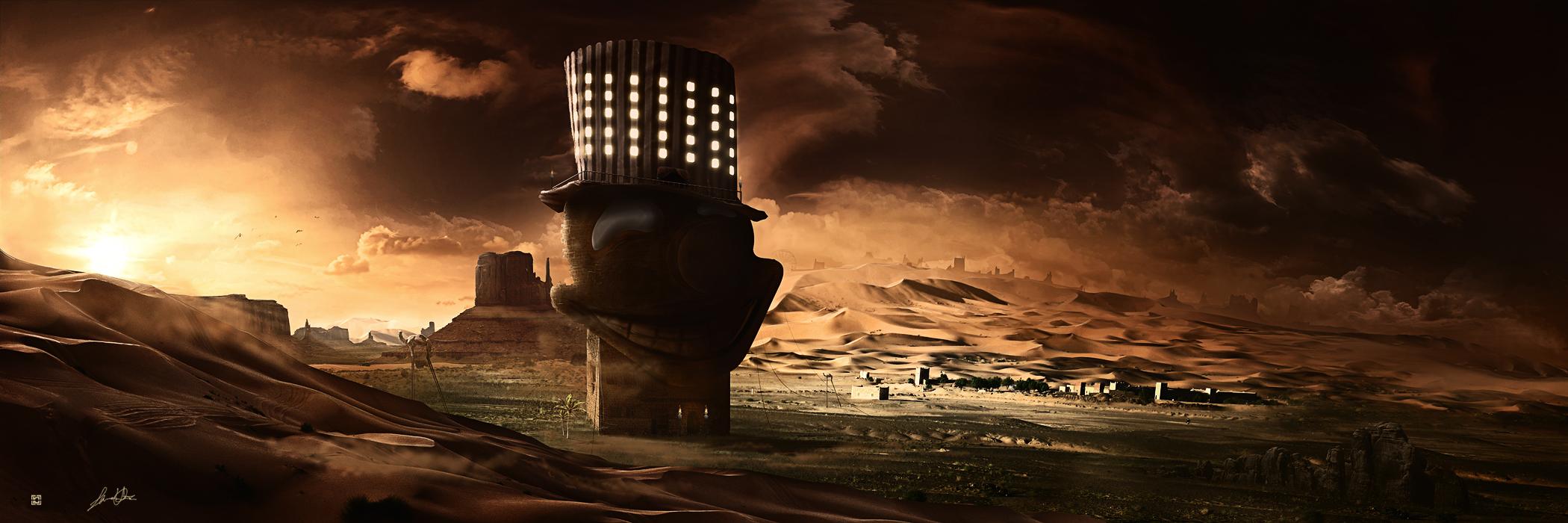 le cirque dans desert by leox912