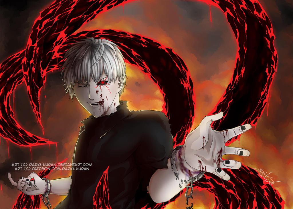 Ken Kaneki - Tokyo Ghoul by Dark4Kuran