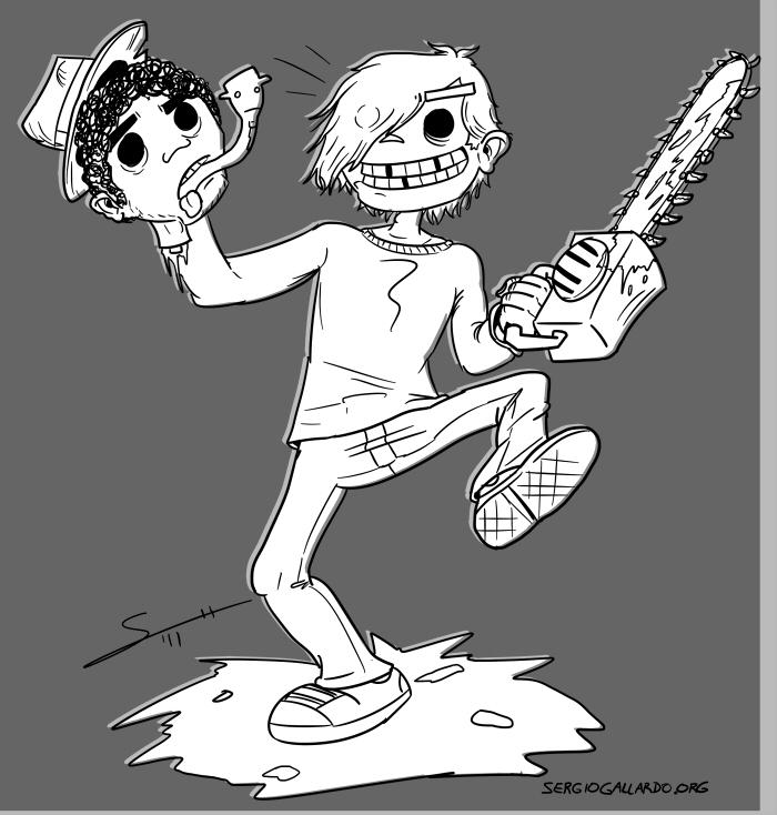 Fely + cabeza de Pete by Pzikowee