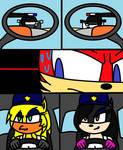 Shaoryx Rider VS Marilyn Cop and Linda Cop COMIC 2