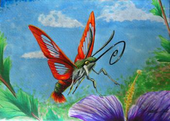 Hummingbird Moth by Kaitlyn23