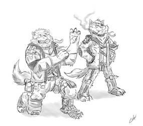 Swat Kats sketch by Charleetros