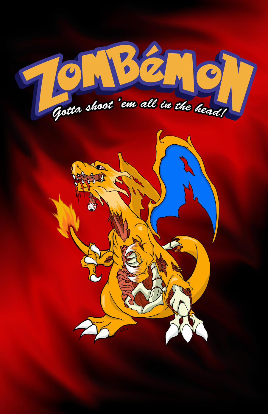 Zombie Charizard By Sotoman On DeviantArt