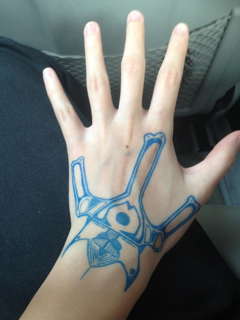 Robot Themed Hand tat? by Huskerd on DeviantArt