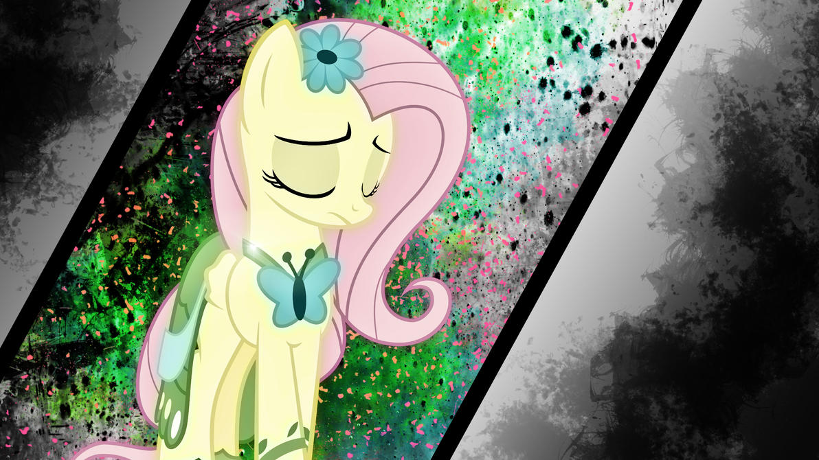 Sad Fluttershy In Gala Dress by Karl97