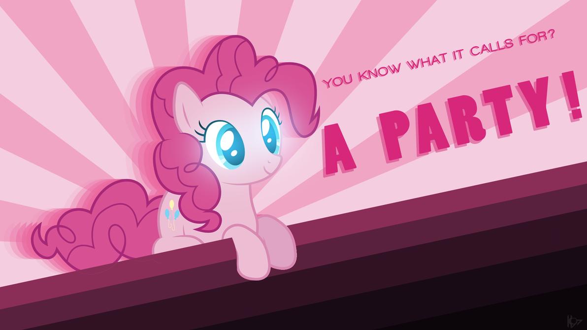 Pinkie Typo ~ Wallpaper by Karl97