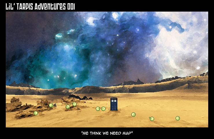 Lil' TARDIS Adventures 001 by DrOfDemonology